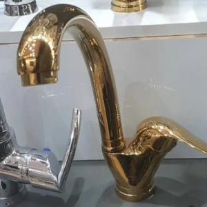 شیر ظرفشویی طلایی مدل یاس