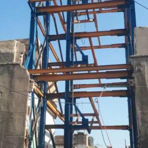 ساخت ونصب واجرای اسکلت فلزی وسازه نگهبان
