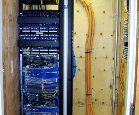نصب کابل کشی شبکه دوربین مداربسته آرایش رک