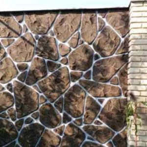 طرح سنگ وچوب ونمای ساختمان ودیوار باغ وویلا