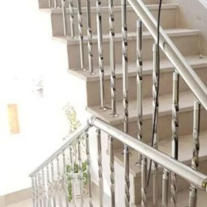 نرده و حفاظ استیل درب پله سازه