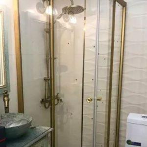 کابین دوش دوردوشی حمام شیشه ای پارتیشن وان