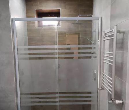 کابین دوش حمام شیشه ای مدل صاف s1