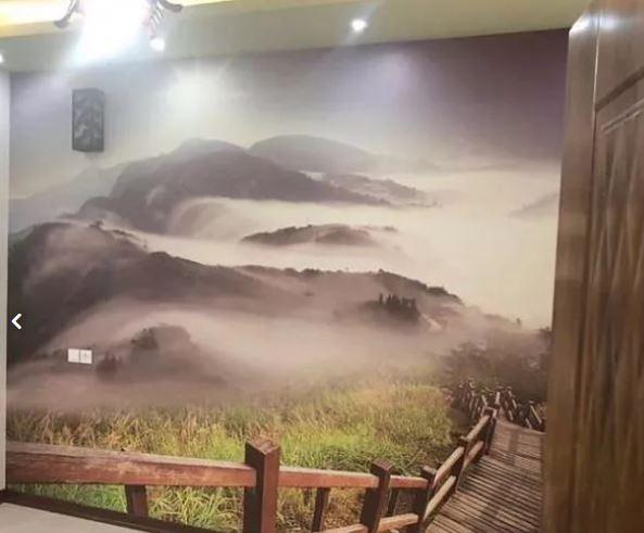 نصاب کاغذ دیواری پوسترآنتیک آیینه نقاش ساختمان نصب