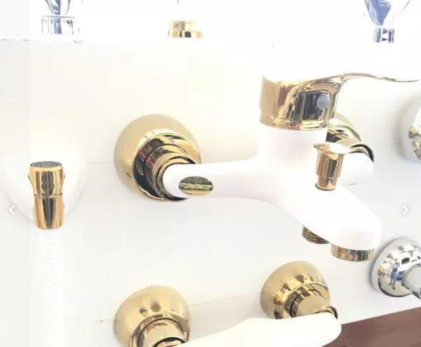 شیرالات دست کامل سفید طلایی