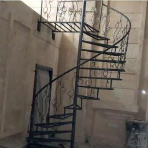 پله گرد نرده استیل