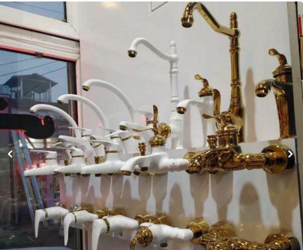 شیر ظرفشویی بامبو قاجاری طلایی