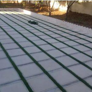 چمن مصنوعی و سقف کاذب