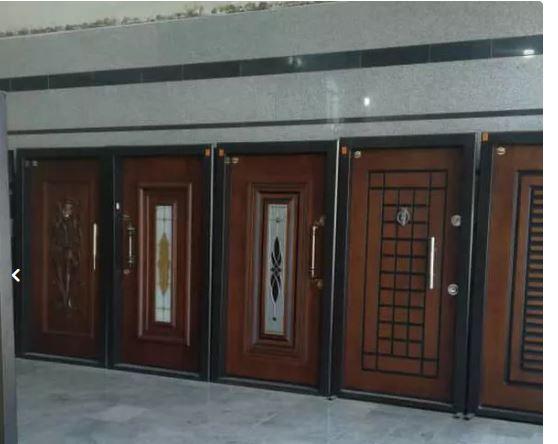درب ضد سرقت داخلی رویه فلز چوبی cnc pvc ضدسرقت