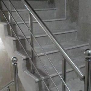 نرده استیل پله استیل حفاظ نرده شیشه ای
