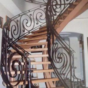 پله گرد، پله پیچ و معلق،نرده فرفورژه،نرده پله