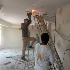 تخریب کلی وجزعی ساختمان اپن ها شومینه دیوارها