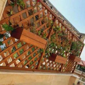 فلاور باکس گل مشبک دیواری چوبی