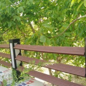 نرده ، پله ، نیمکت چوبی