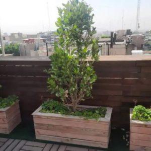 فلاورباکس چوبی ضد آب کفدار