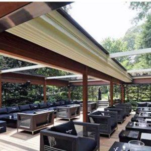 سقف متحرک پارچه ای برای هتل ، رستوران ، ادارات