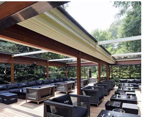 سقف متحرک پارچه ای برای هتل رستوران ادارات