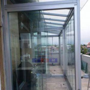 بالکن شیشه ای و شیشه بالکن تاشو سکوریت و سقف متحرک