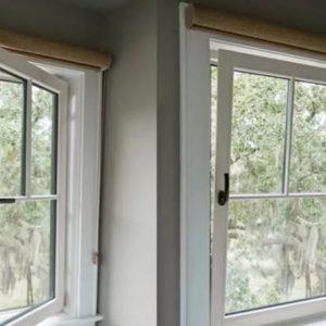 در و پنجره دو جداره upvcو توری پشه گیر شیشه طرح دا