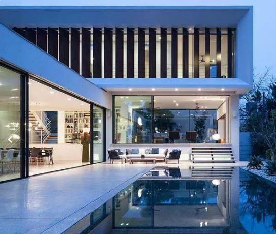 طراحی معماری داخلی دکوراسیون باغ نما پلان