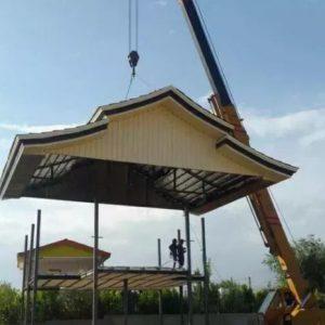 اجرای سقف شیروانی والاچیق