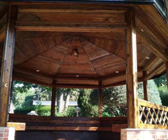 روف گاردن پرگولا شینگل آلاچیق سقف شیشه ای