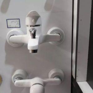 ست شیرآلات ۴تکه سفید 5سال گارانتی طاهاشیر