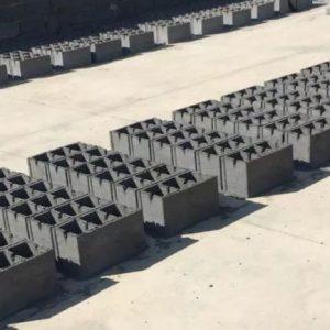 بلوک دیواری سه خانه ته بسته٤٠*٢٠ مصالح سیمان تیرچه