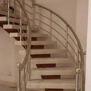 نرده استیل حفاظ هندریل با کیفیت در نصب