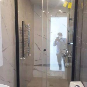 پارتیشن حمام کشویی کابین دوش حمام