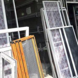 توری پلیسه درب و پنجره upvc آلمینیوم حفاظ