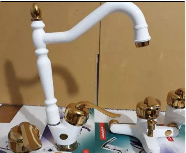 شیرآلات قاجاری سفید طلایی معزی بزرگ مدل ناب